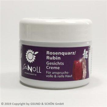 Rosenquarz/Rubin Gesichtscreme, für anspruchsvolle und reife Haut